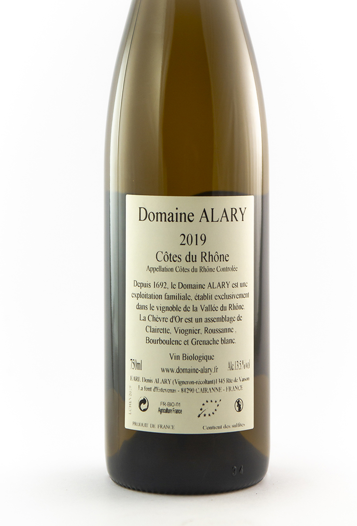 CDR Villages - Cairanne Denis et Daniel Alary  Chèvre d'Or 2019 75 cl Blanc